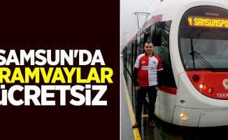 Samsun'da Tramvaylar Ücretsiz