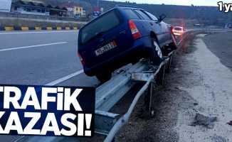Trafik kazası! 1 yaralı