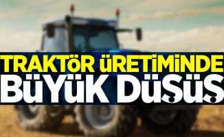 Traktör üretiminde büyük düşüş
