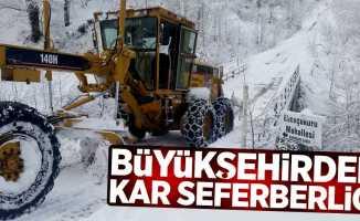 Büyükşehirden kar seferberliği