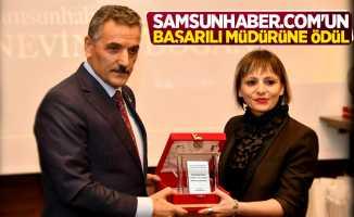 Samsunhaber.com'un başarılı müdürüne ödül