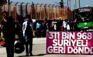 311 bin Suriyeli geri döndü
