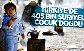 Türkiye'de 405 bin Suriyeli çocuk doğdu