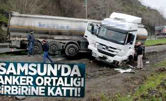 Samsun'da tanker ortalığı birbirine kattı