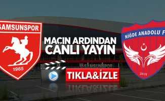 Samsunspor-Niğde AFK maçının ardından (Canlı)