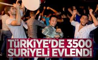 Türkiye'de 3500 Suriyeli evlendi