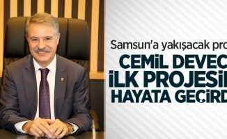 Samsun'a yakışacak proje! Cemil Deveci ilk projesini hayata geçirdi