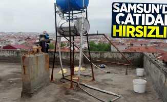 Samsun'da çatıdan hırsızlık