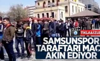Samsunspor taraftarı maça akın ediyor