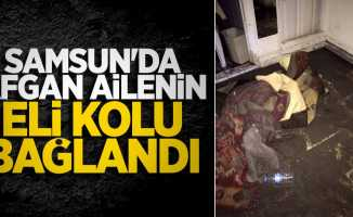 Samsun'da Afgan ailenin eli kolu bağlandı
