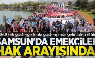 Samsun'da emekçiler hak arayışında! 3600 ek gösterge tepkisi