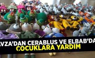 Havza'dan Cerablus ve ElBab'daki çocuklara yardım