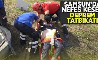 Samsun'da nefes kesen deprem tatbikatı