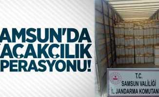 Samsun'da kaçakçılık operasyonu!