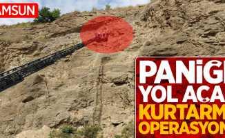Samsun'da paniğe yol açan kurtarma operasyonu