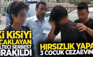 Hırsızlık yapan 3 çocuk cezaevinde iki kişiyi bıçaklayan mülteci serbest bırakıldı
