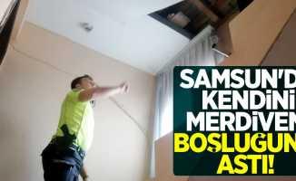 Samsun'da yine intihar girişimi! Kendini merdiven boşluğuna astı