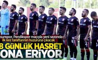 Samsunspor, Pendikspor maçıyla yeni sezonda ilk kez taraftarının huzuruna çıkacak