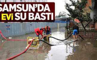 Samsun'da 5 evi su bastı