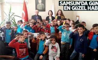 Samsun'da günün en güzel haberi