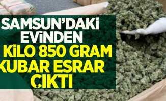 Samsun'daki evinden 3 kilo 850 gram kubar esrar çıktı