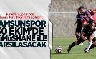 Samsunspor 30 Ekim'deGümüşhane ile karşılaşacak
