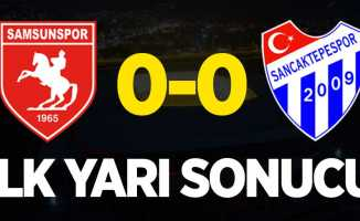 Yılport Samsunspor-Sancaktepe 0-0 (İlk yarı)