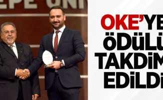 OKE'ye ödülü takdim edildi