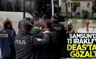Samsun'da 11 Iraklı'ya DEAŞ'tan gözaltı