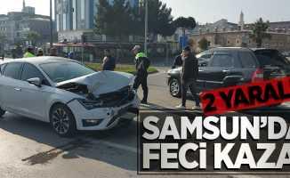 Samsun'da feci kaza: 2 Yaralı!