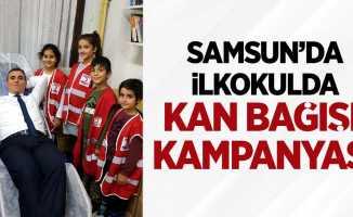 Samsun'da ilkokulda kan bağışı kampanyası