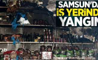 Samsun'da iş yerinde yangın