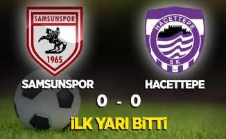 Samsunspor-Hacettepe ilk yarı bitti!