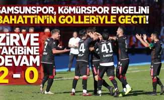 Samsunspor, Kömürspor engelini Bahattin'in golleriyle geçti! Zirve takibine devam 2-0
