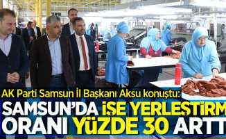AK Parti Samsun İl Başkanı Aksu konuştu: Samsun'da işe yerleştirme oranı yüzde 30 arttı