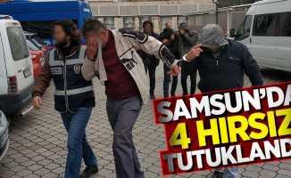 Samsun'da 4 hırsız tutuklandı!