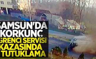 Samsun'da korkunç öğrenci servisi kazasında 2 tutuklama