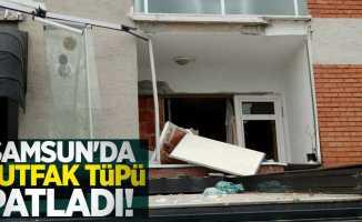 Samsun'da mutfak tüpü patladı! 1 yaralı