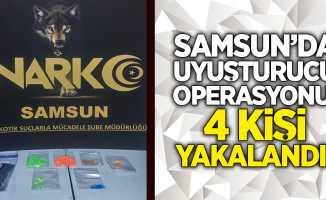 Samsun'da uyuşturucu operasyonu: 4 kişi yakalandı!