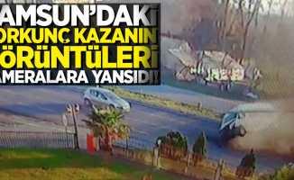 Samsun'daki korkunç kazanın görüntüleri kameralara yansıdı!