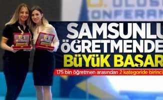 Samsunlu öğretmenden büyük başarı! 2 kategoride Türkiye 1.'si oldu