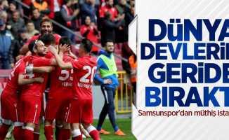 Samsunspor'dan müthiş istatistik! Dünya devlerini geride bıraktı