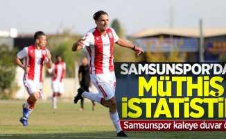 Samsunspor'danmüthiş istatistik! Samsunspor kaleye duvar ördü