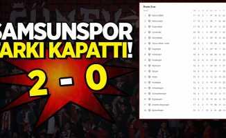 Samsunspor farkı kapattı! 2-0