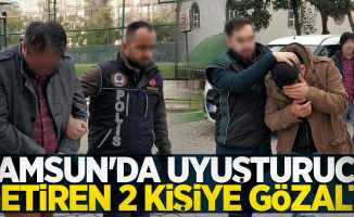 Samsun'a uyuşturucu getiren 2 kişiye gözaltı