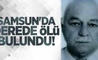Samsun'da derede ölü bulundu!