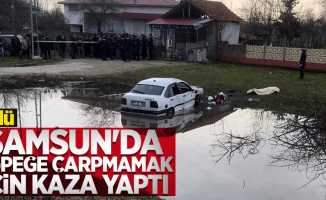 Samsun'da köpeğe çarpmamak için kaza yaptı: 1 ölü
