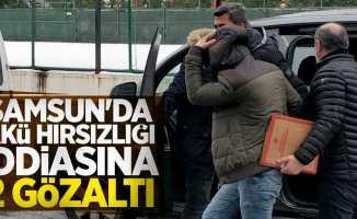 Samsun'da akü hırsızlığı iddiasına 2 gözaltı