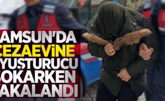 Samsun'da cezaevine uyuşturucu sokarken yakalandı