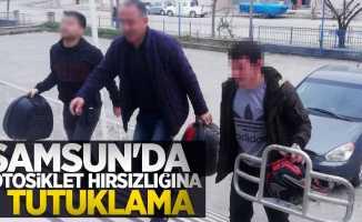 Samsun'da motosiklet hırsızlığına 2 gözaltı